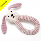 Fair Trade & Organic Pink Bunny Rattle