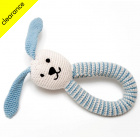 Fair Trade & Organic Blue Bunny Rattle