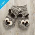 Kid's Owl Mittens