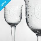 Traidcraft Vintage Flower Wine Glasses - Set of 2