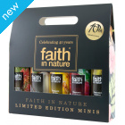 Faith in Nature 40th Anniversary Shower Gel/Foam Bath Minis Gift Pack