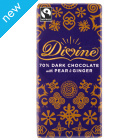 Limited Edition Dark Chocolate with Pear & Ginger 100g