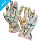 Vintage Bird Print Gardening Gloves