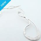 La Jewellery Recycled Boho Silver Earrings
