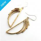 La Jewellery Recycled Brass Waterfall Earrings