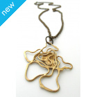 La Jewellery Recycled Contours Brass Neck Art
