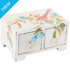 Handpainted Floral Wooden Chest