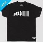 All Riot Evolution Barcode Political T-Shirt