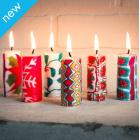 Swazi Mini Christmas Candles - Set of 6