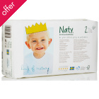 Naty by Nature Babycare Disposable Nappies - Mini - Size 2 - Pack of 34