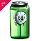 H2O Water Powered Can Clock - Green