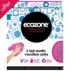 Ecozone Microfibre Cloths - Pack of 2
