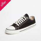 Ethletic Fairtrade Trainers - Black & White