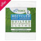 EcoForce Recycled Multipurpose Cloths - 2pk