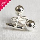 La Jewellery Recycled Silver Sphere Cufflinks