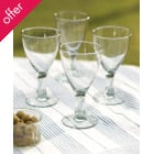 Recycled Wine Glasses - Set of 4