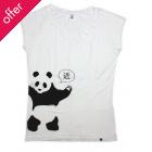 Rapanui Bamboo Women's Panda Print T-Shirt