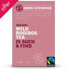 Equal Exchange Fairtrade & Organic Wild Collected Rooibos Tea - 25 Bags