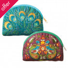 Traidcraft Peacock & Feather Purses - Set of 2