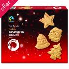 Traidcraft Festive Shortbread Biscuits - 200g