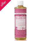Dr Bronner Organic Liquid Castile Soap - Rose - 473ml