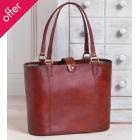 Traidcraft Jawaja Leather Tote Bag