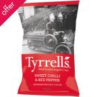 Tyrrells Sweet Chilli & Red Pepper Potato Crisps - 40g