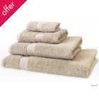 Natural Collection Organic Cotton Shower Towel - Sand