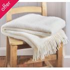 Wafer Cream Wool Throw