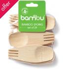 3.5-inch Bamboo Veneerware Sporks - 24 pieces