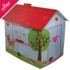 Cardboard Woodland Animals Playhouse