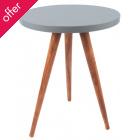 Sheesham Wood Side Table - Grey