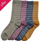 Braintree Bamboo Brambling Striped Socks