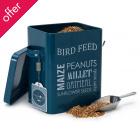 Bird Feed Tin - Petrol Blue