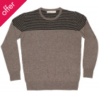 Komodo Marlowe Striped Marl Wool Jumper