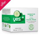 Yes To Cucumbers - Sensitive Skin Calming Facial Mask - 50ml