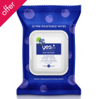 Yes To Blueberries - Age Refresh Cleansing Facial wipes - 25 pack