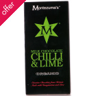 Montezuma's Organic Chilli & Lime Milk Chocolate - 100g