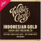 Willie's Cacao Indonesian Gold Dark Chocolate - 80g