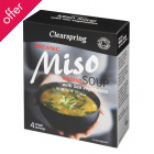 Clearspring Organic Miso Instant Soup with Sea Vegetables - 4 servings