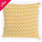 Buffalo Print Cushion - Yellow