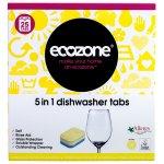 Ecozone Phosphate-Free 5-in-1 Dishwasher Tablets - Pack of 25