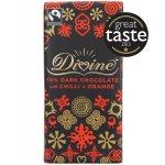 Divine 70% Dark Chocolate with Chilli & Orange - 100g