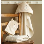 Natures Purest Bear Cuddle Robe and Wash Mitt