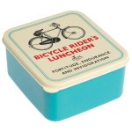 Bicycle Rider's Luncheon Square Lunch Box