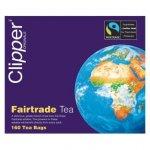 Case of 3 Clipper Fairtrade Teabags 160 Bags
