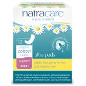 Natracare Organic Cotton Ultra Pads - Super Plus - 12
