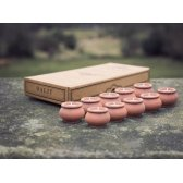 Dalit Handmade Rahul Mini Candle Pots - Set of 10