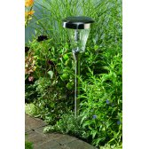 Solar Powered Stake Light and Wall Mount