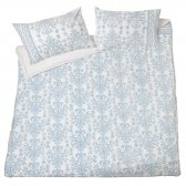 Warli Double Duvet Cover - Blue